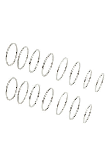 15-pack rings - Silver -  | H&M GB
