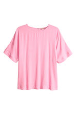 H&M+ Crêpe top - Pink - Ladies | H&M CN 2