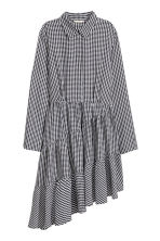 Asymmetric dress - Black/White/Checked - Ladies | H&M GB 2
