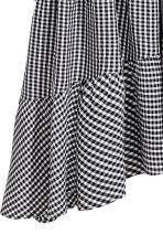 Asymmetric dress - Black/White/Checked - Ladies | H&M GB 3