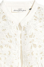 Blouse with lace - White -  | H&M 3
