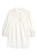 Blouse with lace - White -  | H&M 2