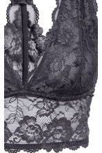 Lace bralette - Dark grey - Ladies | H&M CN 4
