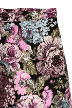 Jacquard-weave skirt - Black/Floral - Ladies | H&M 3