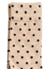 Spotted socks - Dark blue/Beige - Men | H&M 2