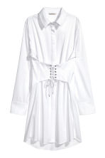 Long cotton shirt - White -  | H&M 2