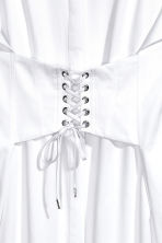 Long cotton shirt - White -  | H&M CN 3