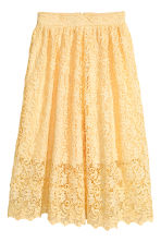 Gonna in pizzo - Giallo - DONNA | H&M IT 2