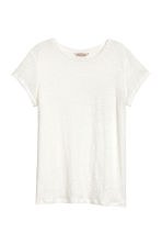 Top in lino - Bianco naturale -  | H&M IT 2