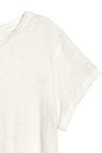 Top in lino - Bianco naturale -  | H&M IT 3