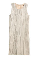 Dress with a metallic print - Silver - Ladies | H&M 2