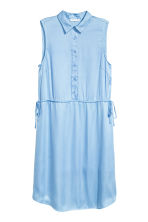 Satin dress - Light blue - Ladies | H&M 2