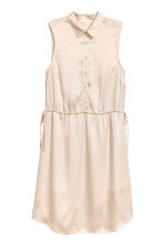 Satin dress - Light beige - Ladies | H&M 2