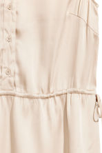Satin dress - Light beige - Ladies | H&M 3