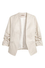 H&M+ Linen-blend jacket - Natural white - Ladies | H&M 2