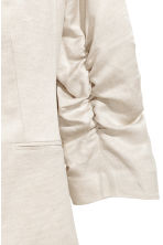 H&M+ Linen-blend jacket - Natural white - Ladies | H&M 3