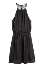 Dress with a lace back - Black - Ladies | H&M 2