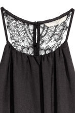 Dress with a lace back - Black - Ladies | H&M 4