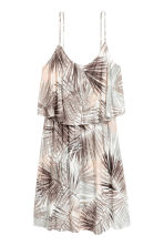 Jersey dress - Natural white/Leaf - Ladies | H&M CN 2