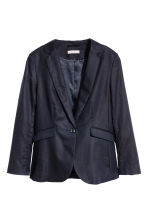 H&M+ Linen-blend jacket - Dark blue - Ladies | H&M 2
