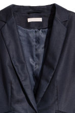 H&M+ Linen-blend jacket - Dark blue - Ladies | H&M 3