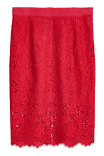 H&M+ Lace pencil skirt - Red -  | H&M 1