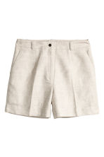 H&M+ Linen-blend shorts - Natural white -  | H&M 1