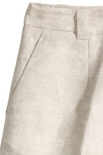 H&M+ Linen-blend shorts - Natural white -  | H&M 3