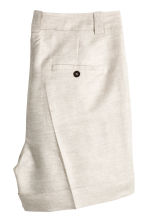 H&M+ Linen-blend shorts - Natural white -  | H&M 2