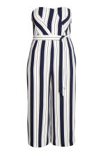 H&M+ Jumpsuit - Dark blue/Striped - Ladies | H&M 1