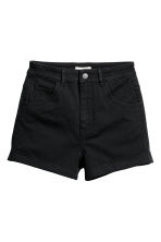 Shorts in twill a vita alta - Nero - DONNA | H&M IT 2