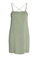 Textured-weave dress - Dusky green - Ladies | H&M CN 2