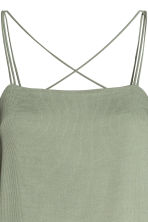 Textured-weave dress - Dusky green - Ladies | H&M CN 3