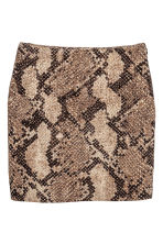 Short skirt - Snakeskin print - Ladies | H&M CN 2