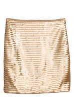Short skirt - Gold - Ladies | H&M 2