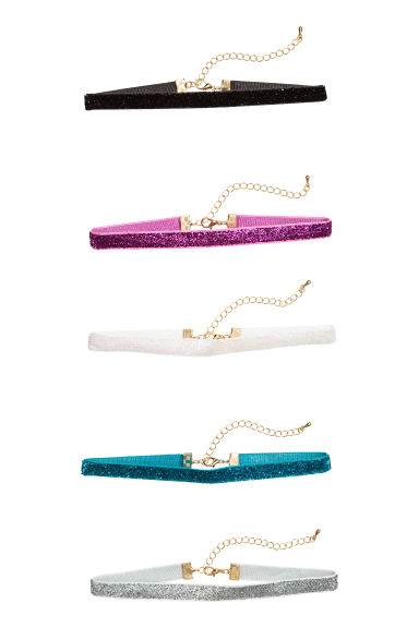 5-pack chokers - Multicoloured -  | H&M 1