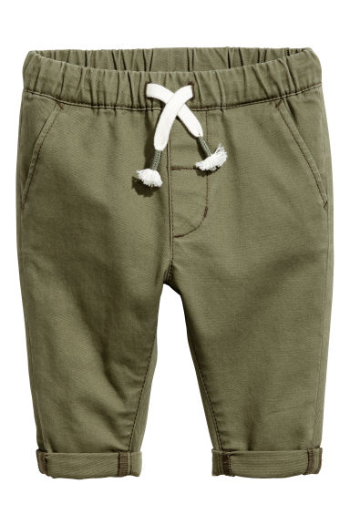 Pull-on chinos - Khaki green - Kids | H&M 1