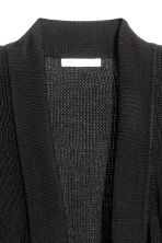 Ribbed cardigan - Black - Ladies | H&M 2