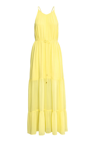 Chiffon dress - Yellow - Ladies | H&M CN 1