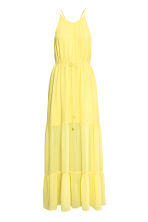 Chiffon dress - Yellow - Ladies | H&M CA 1