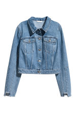 Veste courte en jean - Bleu denim -  | H&M BE 2