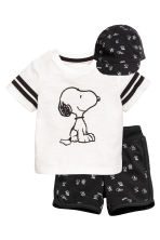 3-piece jersey set - Black/Snoopy -  | H&M 1