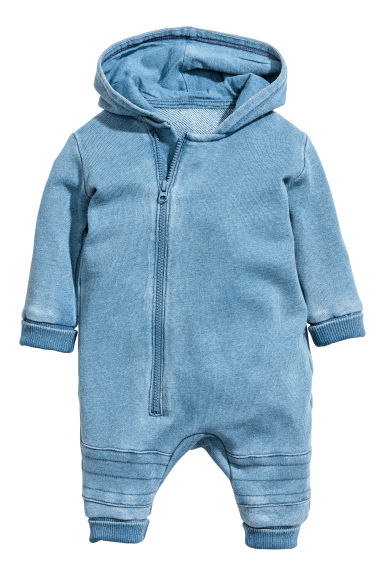 Washed-look all-in-one suit - Blue washed out - Kids | H&M 1