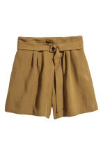 High-waisted shorts - Khaki - Ladies | H&M CN 2