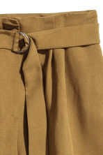 High-waisted shorts - Khaki - Ladies | H&M 3