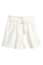 High-waisted shorts - White - Ladies | H&M 2