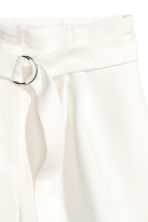 High-waisted shorts - White - Ladies | H&M 3