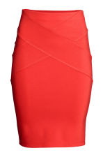 Jersey pencil skirt - Red -  | H&M CA 2