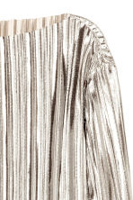 Pleated top - Silver -  | H&M CN 3