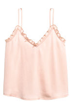 Satin strappy top - Powder pink - Ladies | H&M CA 2